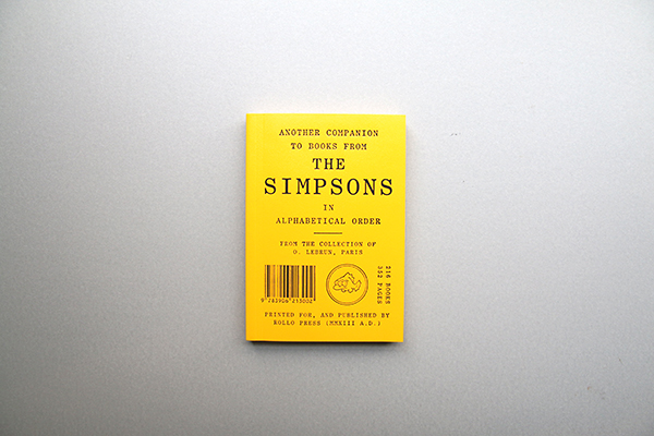 Another Companion To Books From The Simpsons