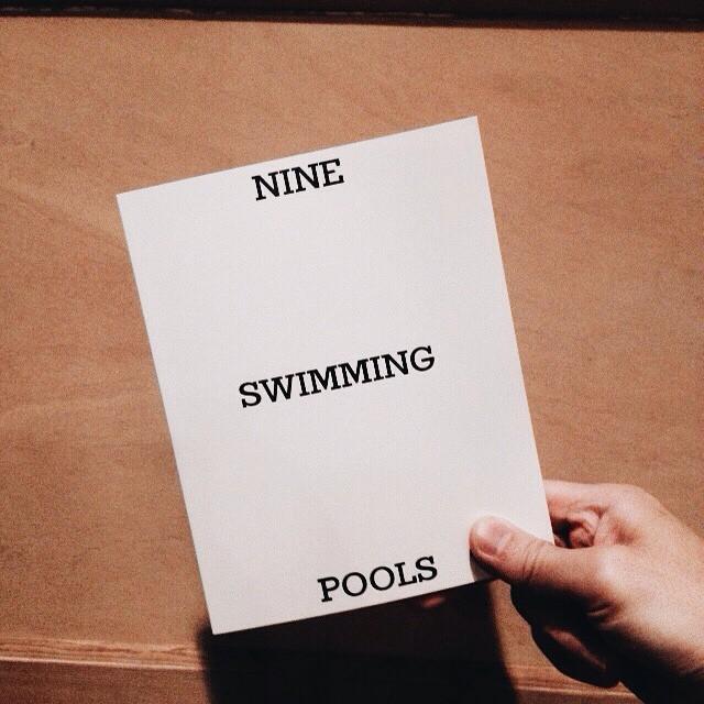 ホンマタカシ「NINE SWIMMING POOLS」入荷してます。エド・ルシェへのオマージュ写真集。