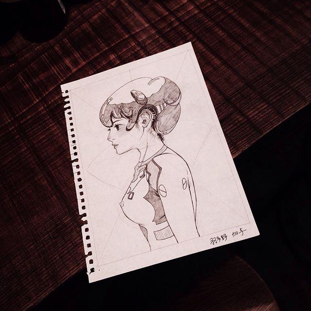 羽多野さんから手書きの原画をいただいちゃった。キレイな線だな〜